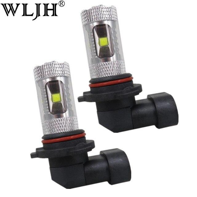 WLJH 2 cái 9006 HB4 30 Wát Epistar Dẫn Con Chip Lamp Light Bulbs Lens Car Phụ Kiện Bên Ngoài Led Fog Sáng Bóng Đèn Cho BMW E46 330ci