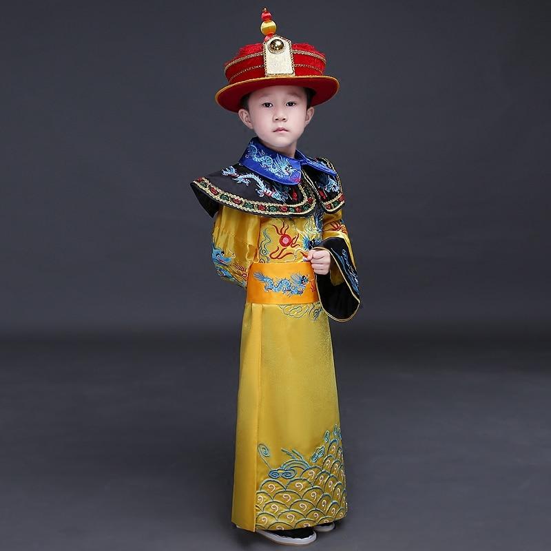 Chine Garçons Chinois Empereur Costume Costumes Anciens Chinois Empereur Vêtements Prince Robe Vêtements Tang Dynastie Des