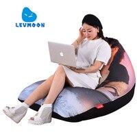 LEVMOON Beanbag Sofa Chair Titanic Seat Zac Comfort Bean Bag Bed Cover Without Filler Cotton Indoor
