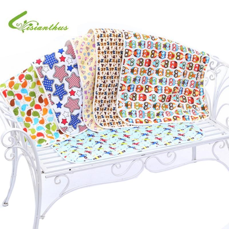 Jaundzimušā bērna mainīgais spilventiņu spilventiņš zīdaiņu bērna drukas gultai Ūdensnecaurlaidīgs kokvilnas auduma autiņbiksīšu ieliktnis Bērnu gultiņas maiņa