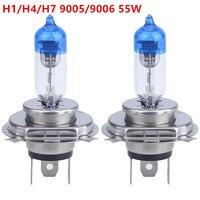 2pcs Pair H4 H7 H1 9006 9006 HB4 55W 12V Super Bright White Halogen Bulb High