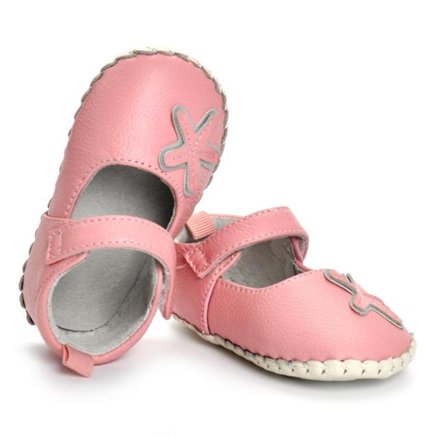 8221ae49edc28 1 Pair Pink Baby First Walker Spring Autumn Baby Anti Slip Shoes Leather  Soft Bottom 0 18 Months Baby Walking Shoes-in First Walkers from Mother &  ...