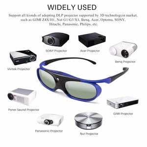 Image 2 - FORNORM GS1000 Battery Universal DLP 3D Glasses Active Shutter 96 144Hz For Optoma BenQ Acer Viewsonic for Dell JmGO XGIMI 3DTV