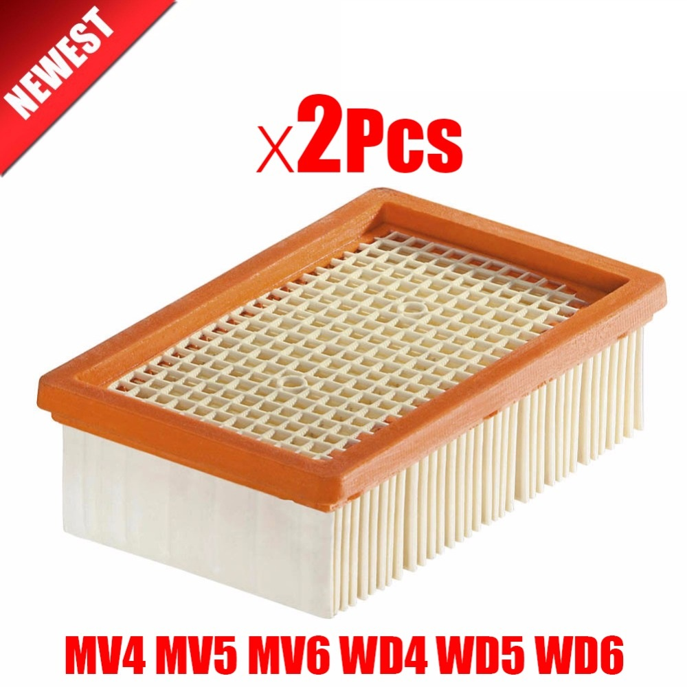 2Pcs Lot Filter For KARCHER MV4 MV5 MV6 WD4 WD5 WD6 Wet Dry Vacuum Cleaner Replacement