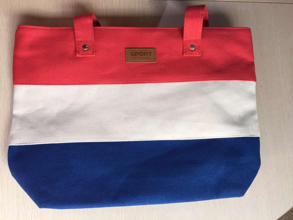 2017 New Mujer Summer Messenger Bag Beach Handbag Bags Brand Totes Women Ladies Stripes Canvas Shoulder Bag Drop Shipping N508 4