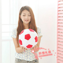 middle plush red&white football toy stuffed lovely football doll gift about 30cm 471
