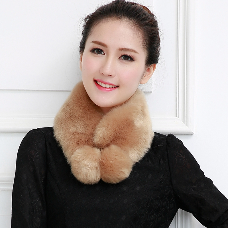 New arrival faux fur scarves pom pom fox fur collar jacket faux fur fake neckerchief warm women scarves multicolor cosplay party