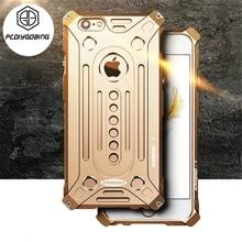 Роскошные противоударный чехол телефона авиационного алюминия металлический Открытый armor полная защита case для iphone 5 5S SE 6 6S 7 plu S 7 plu s