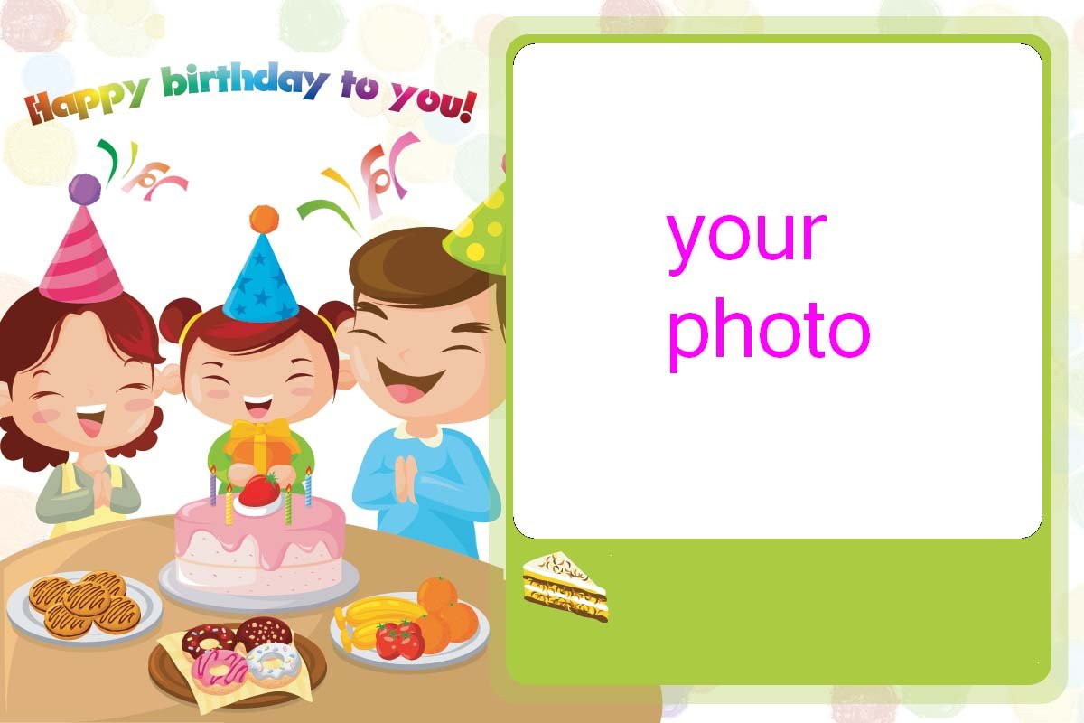 Diy Photo Birthday Cards Sample 4 Pictures Customized