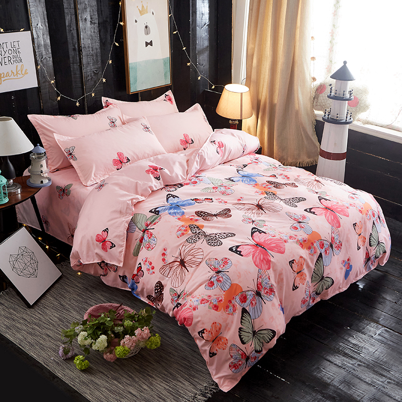 1 PC Butterfly Environmental Printing and Dyeing Super Soft Duvet Cover Polyester Home-textile 4 Size For Choose