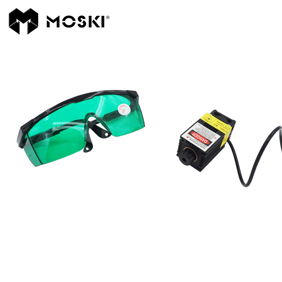 MOSKI ,2.5W Blue Light Laser Module diode for Laser cnc Engraving Machine High power 450nm Focusable Power supply,2500mw