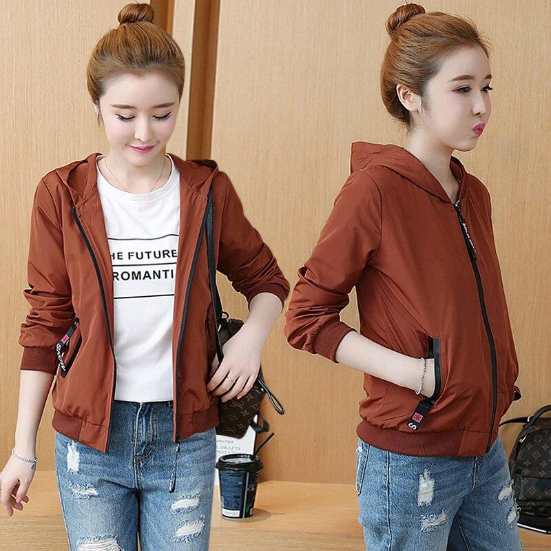 Jackets Women 2019 New Women's Basic Jacket Fashion Windbreaker High Quality Outwear Female Baseball Women Coat NS4210 32