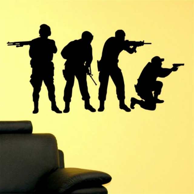 NEW arrival Military SWAT Team Army Men Soldier Kid Room Decor diy ...