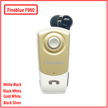 Fineblue Mini auricular F960, inalámbrico por Bluetooth, auriculares internos manos libres con micrófono, llamadas, recordatorios, vibración, controlador de Clip