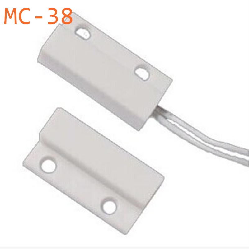 1Pair MC-38 MC38 Wired Door Window Sensor N/O Switch Magnetic Alarm 330MM Length 100V DC Normally-Closed NC For Home Safe free shipping 1pcs wired door window sensor 330mm wire lengthen randomly magnetic switch home alarm system normally closed nc