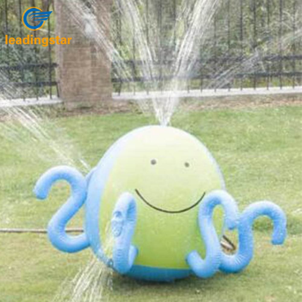 LeadingStar Inflatable Sprinkling Octopus Summer Children Outdoor Spraying Water Octopus Beach Lawn Playing Water zk30