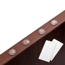 Новая самоклеющаяся Резина прокладки для ног силиконовые прозрачные двери шкафа закрыть буфера бампер стоп подушка для ящика шкафа