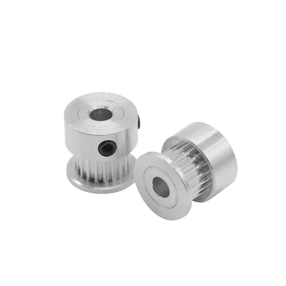 1 Pc Gt2 Aluminium Timing Pulley 20 Zähne Aluminium Bohrung 8mm Fit Für Gt2 Gürtel Breite 6mm Für Cnc 3d Drucker