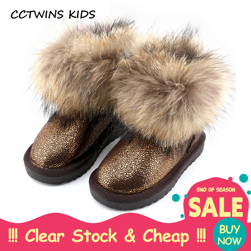 CCTWINS KIDS 2017 Winter Fashion Warm Snow Boot Toddler Genuine Leather Boot Baby Girl Brand Children Black Ankle Boot C501 2017 cow suede genuine leather female boots all season winter short plush to keep warm ankle boot solid snow boot bota feminina