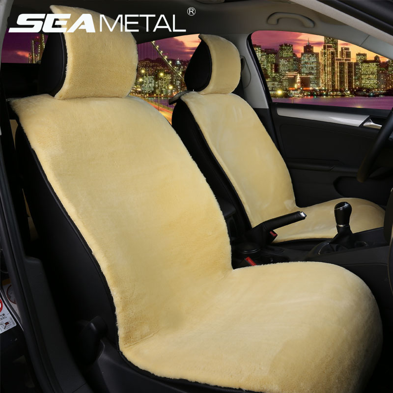 car seat cover auto front seats fur cape cushion plush covers winter interior accessories. Black Bedroom Furniture Sets. Home Design Ideas