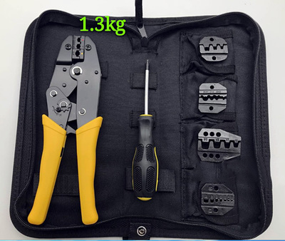 Crimping Hand Tool w/ Die Kit Electrician Crimper Wire Cable Ratchet Crimp Set new 4 in 1 wire crimper tools kit multitool engineering ratchet terminal crimping plier crimping tool kit an k06wf tool set