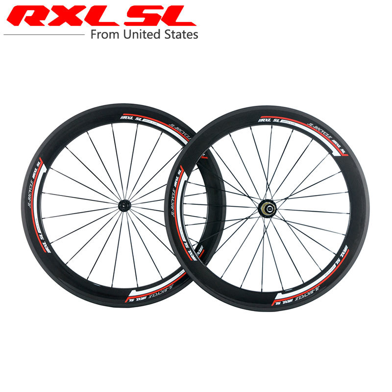RXL SL Carbon Bicycle Wheels 700C 23mm Width 38mm 50mm 60mm Clincher Tubular Racing Bicycle Wheels Road Bike Wheelset 3K футболка с полной запечаткой для девочек printio spawn