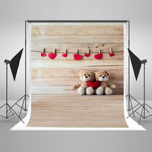 Children Photography Background Toy Bear Photo Booth Backdrops Suspended Red Stars Newborn background for photographic studio