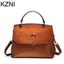 KZNI véritable cuir femmes sac à main designer sacs à main de haute qualité bandoulière sacs pour femmes dames sacs à main bolsos mujer L112910