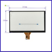 NEW 9inch GT911 1024*600 4lines Capacitive touch screen panel 211mm*126mm TouchSensor FreeShipping 211*126