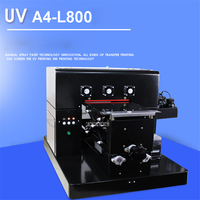 110V/220V UV A4 L800 A4 Small size UV printer for leather Phone case PVC plate/Acrylic plate/Wooden/Metal plate 210 * 297mm