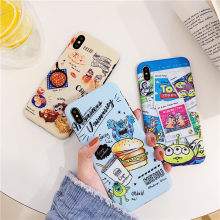 Case For iPhone X XS XR XS MAX 7 8 8plus 6 6S PLUS Fashion Cartoon Monsters Toy Story Alien Blue Light IMD silicone Cute Coque(China)