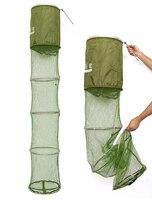 LEO fishing net Collapsible Fishing Basket Dip Net Fishing Cage red de pesca mesh trap 35CM*200CM casting net fishnet visnet
