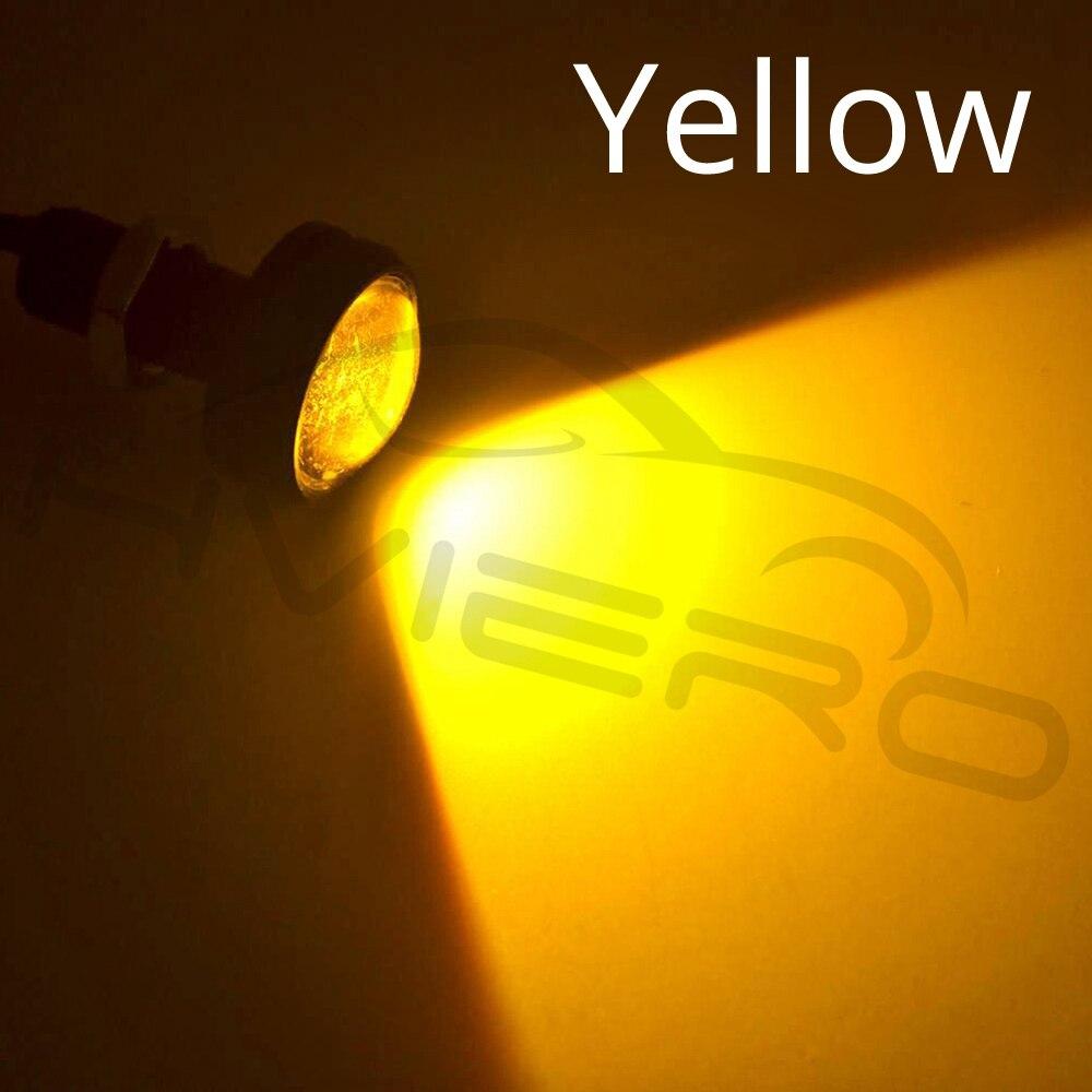 Hviero White Red Blue yellow 18mm 9w DC 12V Led Eagle Eye Light Daytime Running Drl Backup Car Motor Parking Signal Lamps Waterproof