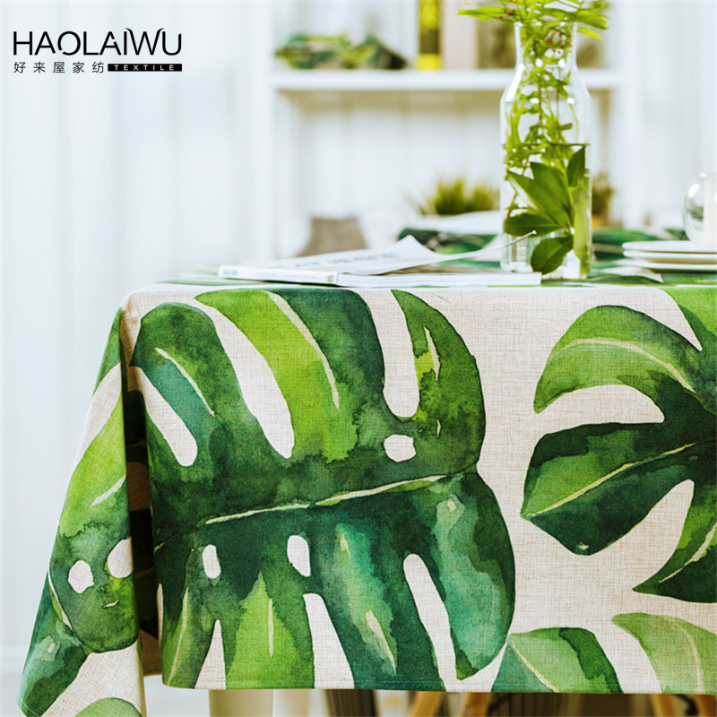 HAOLAIWU3D Photo Print Tropical Plants GreeTablecloth Table Cover Wedding Table  Cloth Rectangle Provence Tafelkleed Tablecloths(