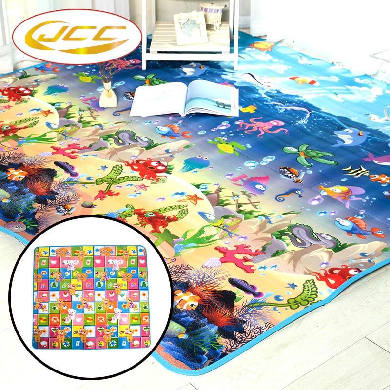 JCC Baby Play Mat gyerekjátékok Szőnyegek gyermekhab számára Oktató fejlesztés egész szőnyeg csúszáshoz 200cmX180cm vastag 0.5cm