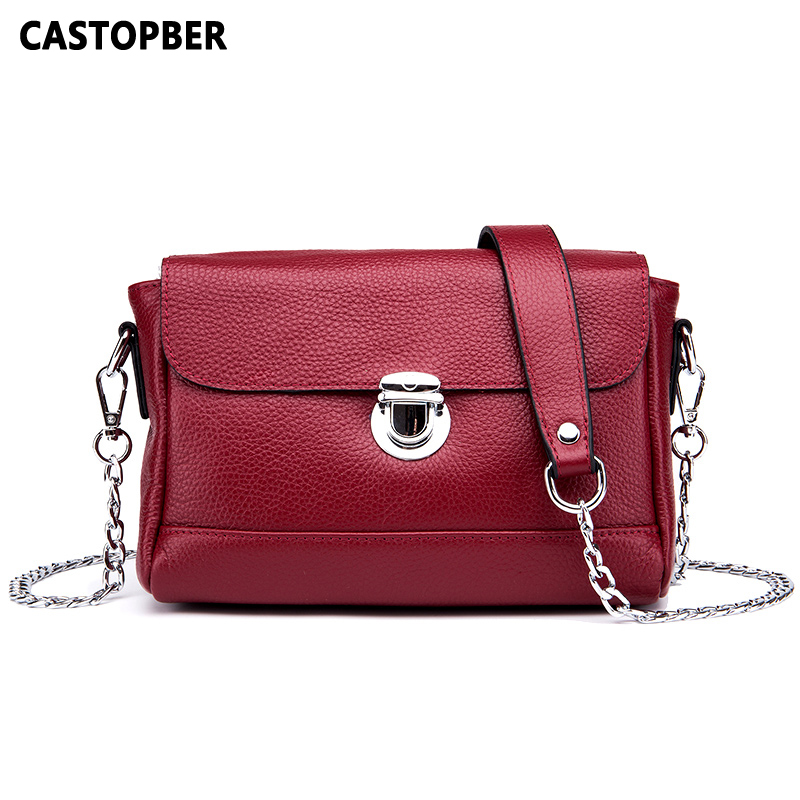 купить New Summer Women Messenger Bags 2018 Cow Genuine Leather Ladies Fashion Crossbody Chain Bag Shoulder Lock Handbags High Quality онлайн