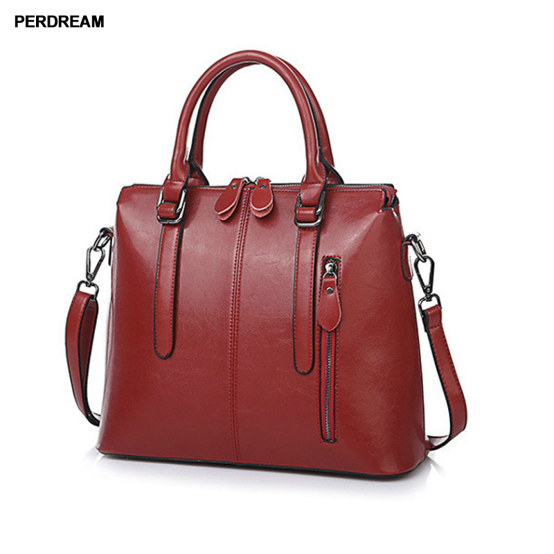 2018 new style European and American fashion ladies leather ladies fashion handbag slanting shoulder oil paraffin bag safebet brand 2018 new fashion cool style real leather handbag wholesale oil wax leather slanting shoulder bag women s handbag