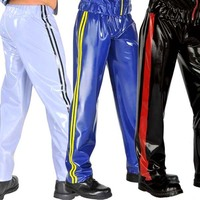 0.4mm Thickness Latex Men's Pants Latex Track Suit Bottoms Latex Rubber Trousers