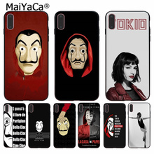 MaiYaCa Spain TV The Casa of papel High Quality Phone Accessories Case for Apple iPhone 8 7 6 6S Plus X XS MAX 5 5S SE XR Cover babaite spain tv la casa de papel novelty fundas phone case cover for apple iphone 8 7 6 6s plus x xs max 5 5s se xr cases