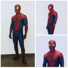 2016 The Amazing Spider-man Costume 3D Original Movie Halloween Spandex Spiderman Superhero Costume Fullbody Zentai Suit