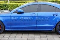 Автомобильные аксессуары углеродного волокна CLS РНТ Стиль сбоку юбка подходит для 2011 2013 МБ W218 сбоку юбки под Borad автомобиль Стайлинг