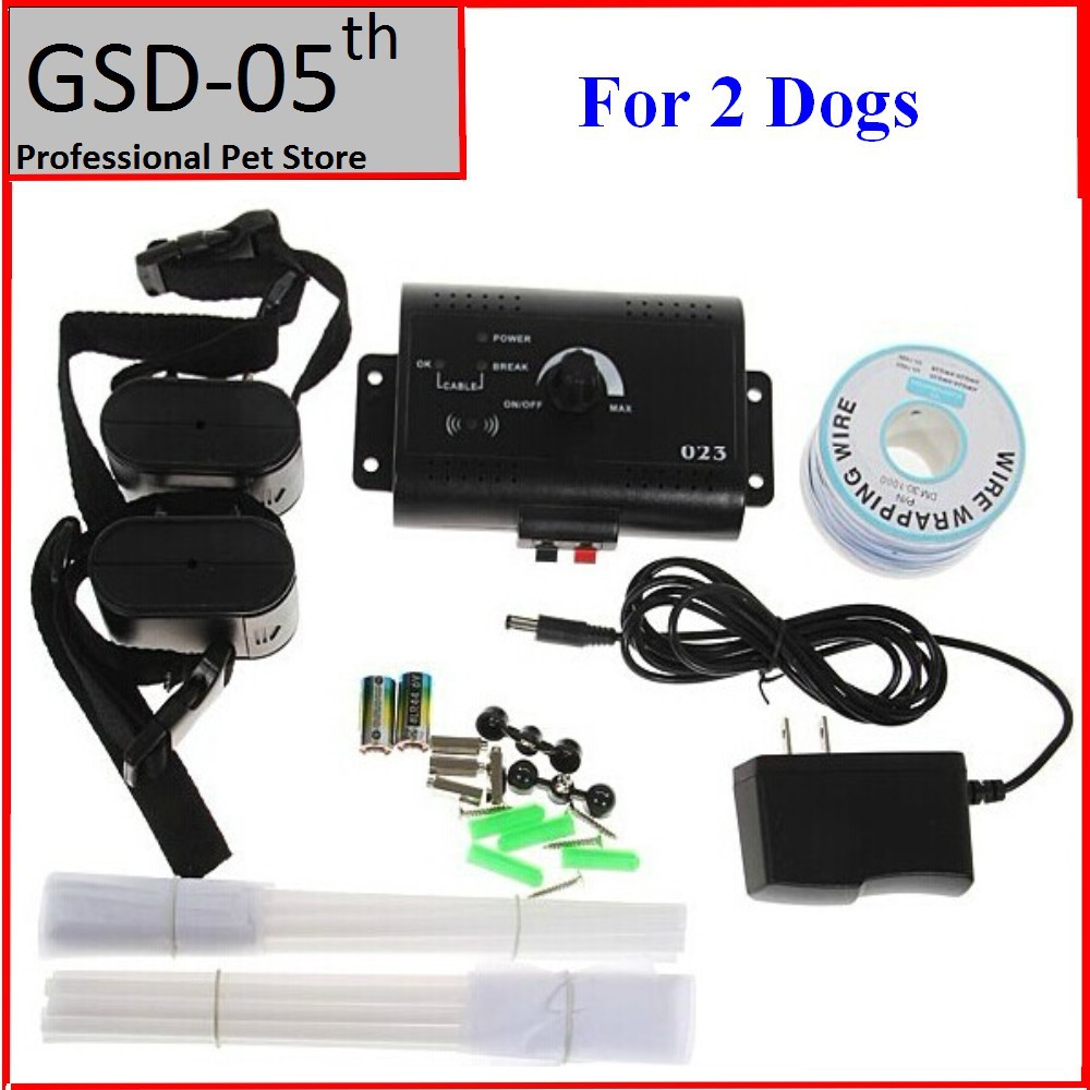 2 dogs underground electric dog pet fencing system inground electric dog fence shock collar