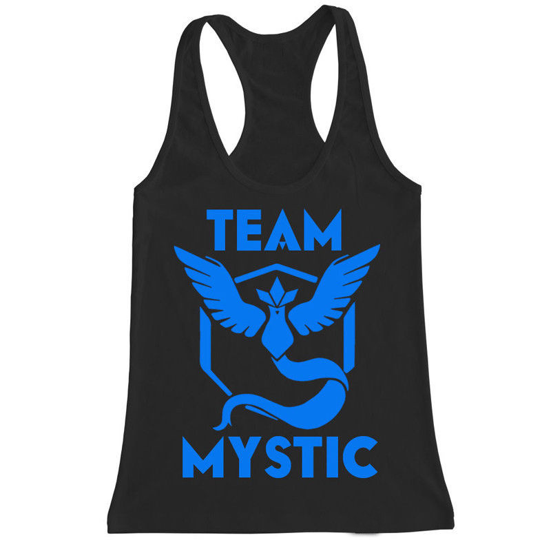 2018 Newest Men Pokemon Go   Tank     Tops   Fashion Streetwear Team Mystic Instinct Valor Printed Vest Sleeveless   Tops   Tees Clothing
