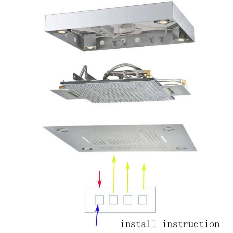 HM-BD012-1 electric light shower head (0306)