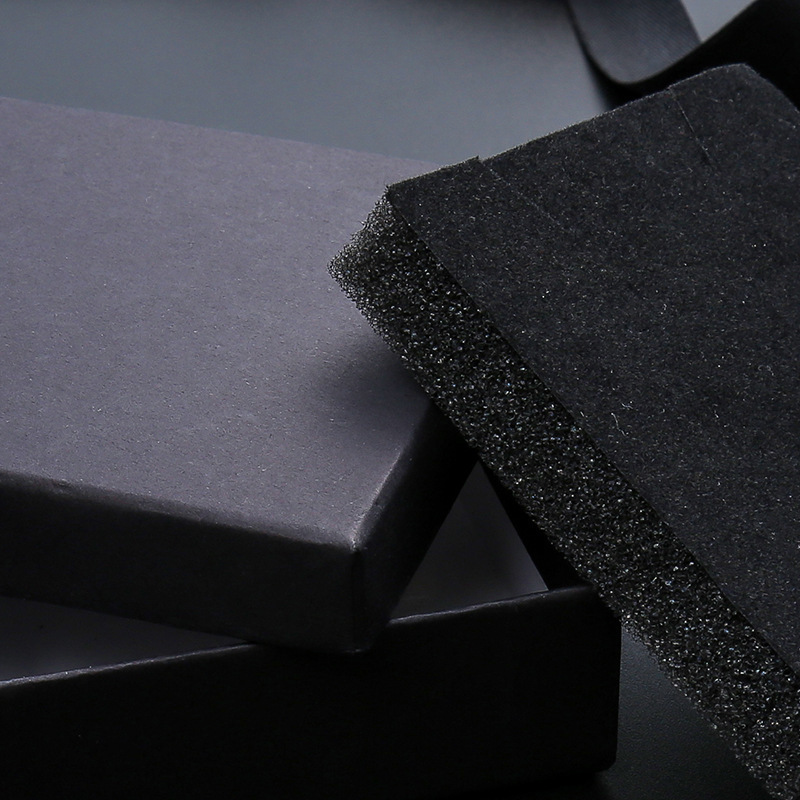 Image 5 - 24Pcs/lot Black Kraft Paper Box Packaging Present Ring Earring  Bracelet Protection Gift Box 9cmx9cm Can Custom Your LogoJewelry  Packaging