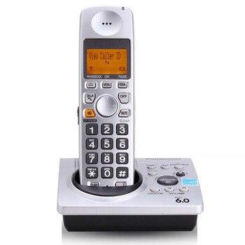 Dect 6,0 Digital inalámbrico teléfono del sistema de respuesta con llamada de luz de fondo manos libres llamada de espera de correo de voz para el teléfono del hogar