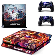 The Avengers Infinity War PS4 Skin Sticker Decal Vinyl for Sony Playstation 4 Console and 2 Controllers PS4 Skin Sticker