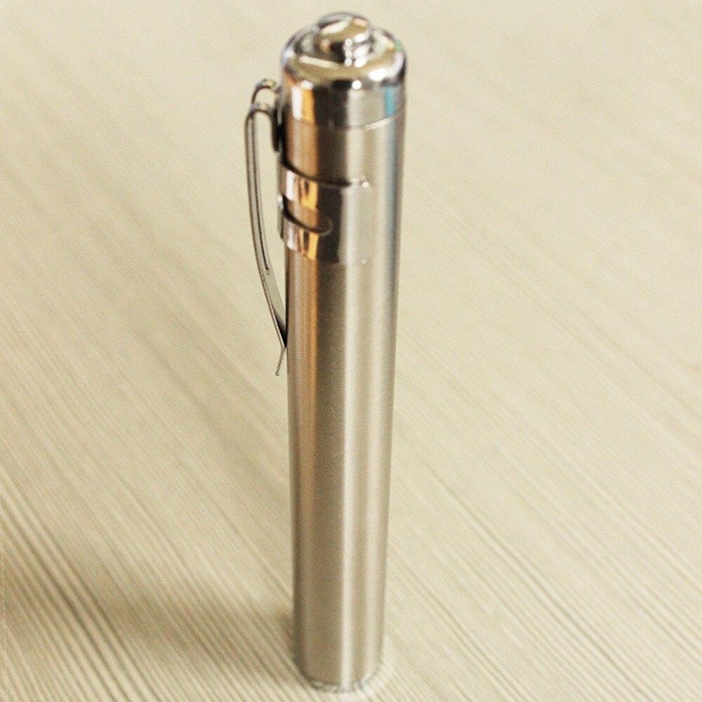 waterproof Portable Stainless mini LED keychain flashlight Torch battery flashlight outdoor led work light aaa led