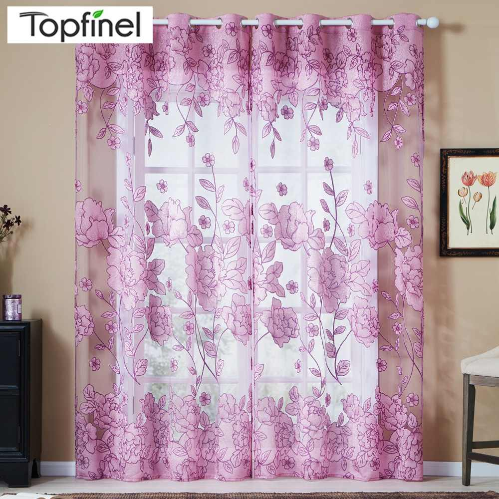 Luxury Tulle for Windows Curtain Jacquard Embroidered Volie Sheer Blackout Curtains for Living Room the Bedroom Blinds Panel