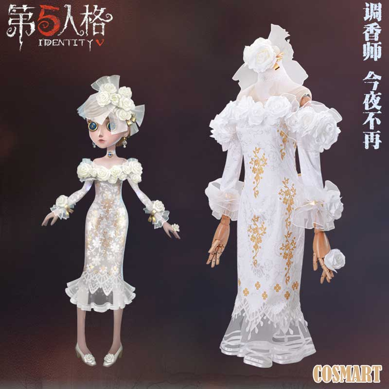 [July Stock]Game Identity V Vera Nair Cosplay Costume No More Tonight Wedding Dress White Dress Halloween Costume For Women New